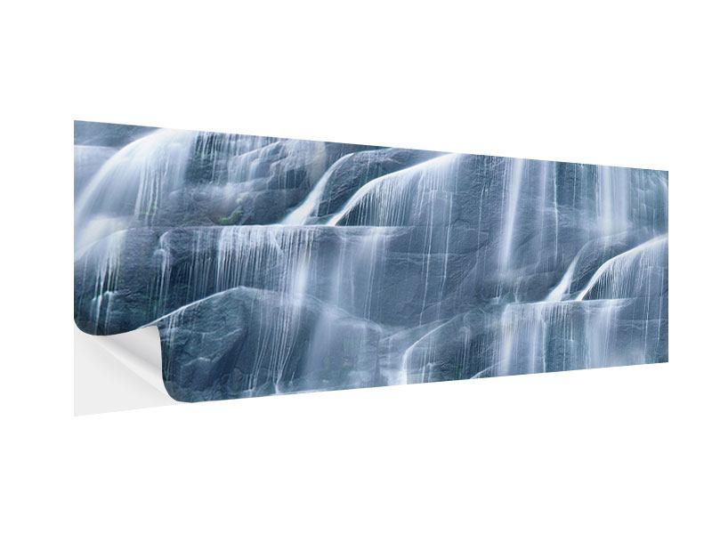 Klebeposter Panorama Grossartiger Wasserfall