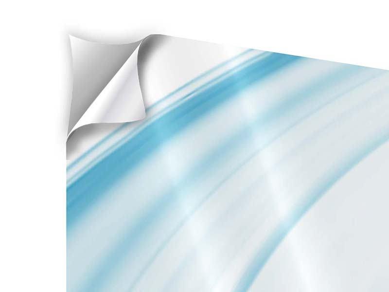 Klebeposter Panorama Abstraktes Glas