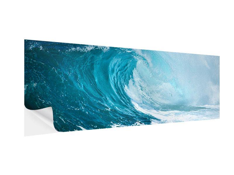 Klebeposter Panorama Die perfekte Welle