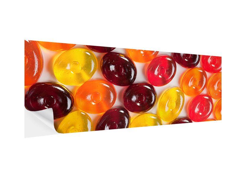 Klebeposter Panorama Bonbons