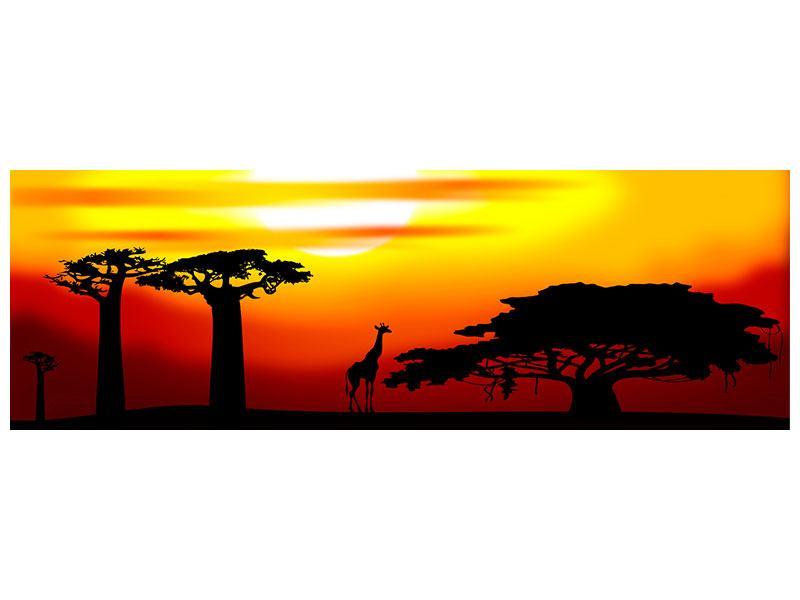 Klebeposter Panorama Faszination Afrika