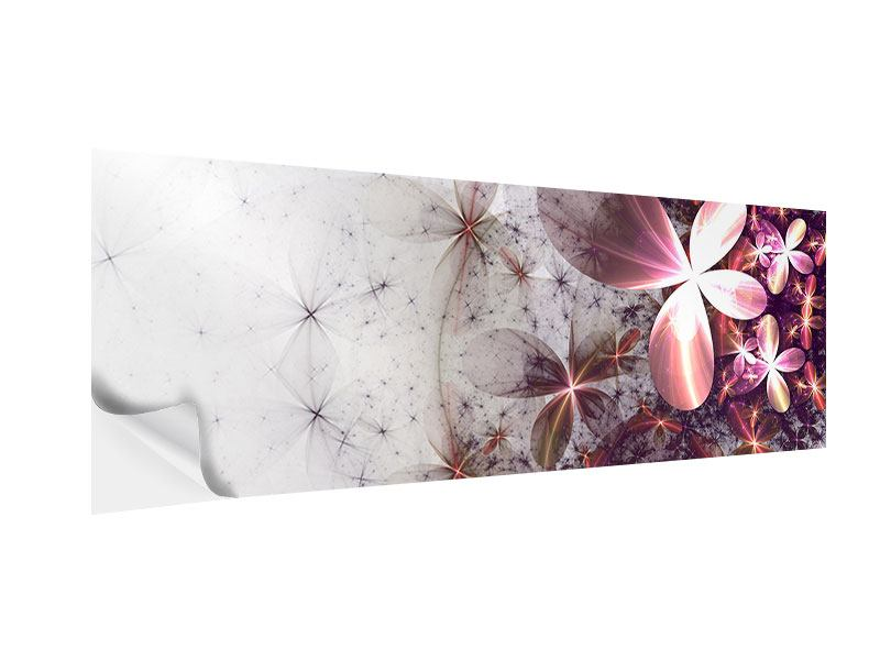 Klebeposter Panorama Abstrakte Blumen