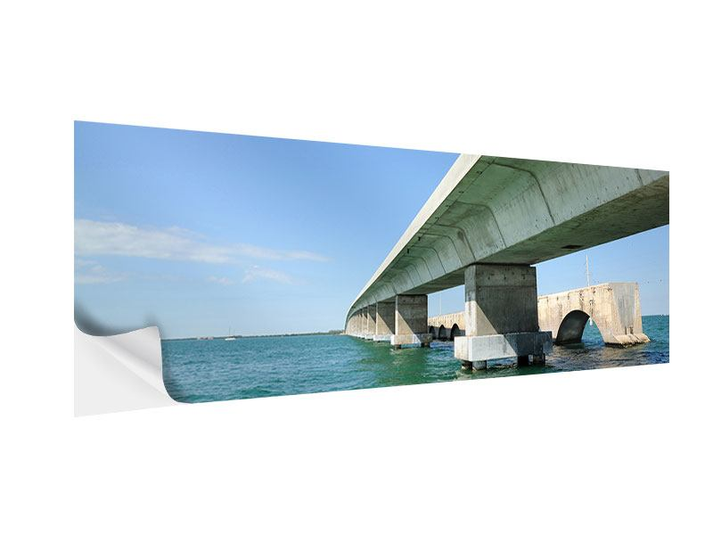 Klebeposter Panorama Seven Mile Bridge