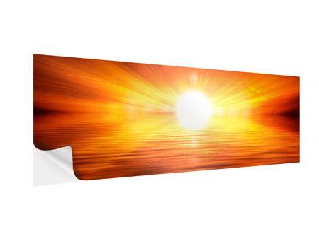 Klebeposter Panorama Glühender Sonnenuntergang