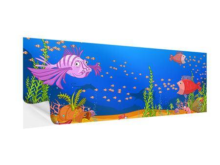 Klebeposter Panorama Der Schatz unter Wasser