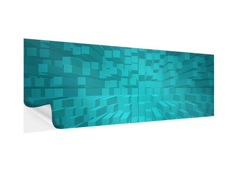 Klebeposter Panorama 3D-Kubusse