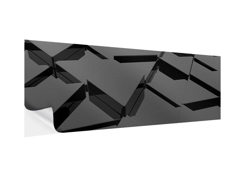 Klebeposter Panorama 3D-Dreiecksflächen