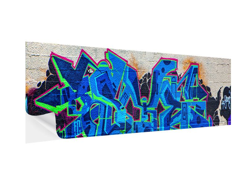 Klebeposter Panorama Graffiti NYC