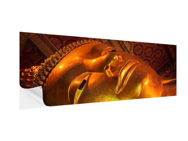 Klebeposter Panorama Liegender Buddha
