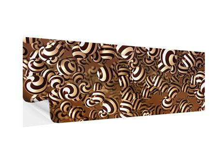 Klebeposter Panorama Schokoladen-Bonbons