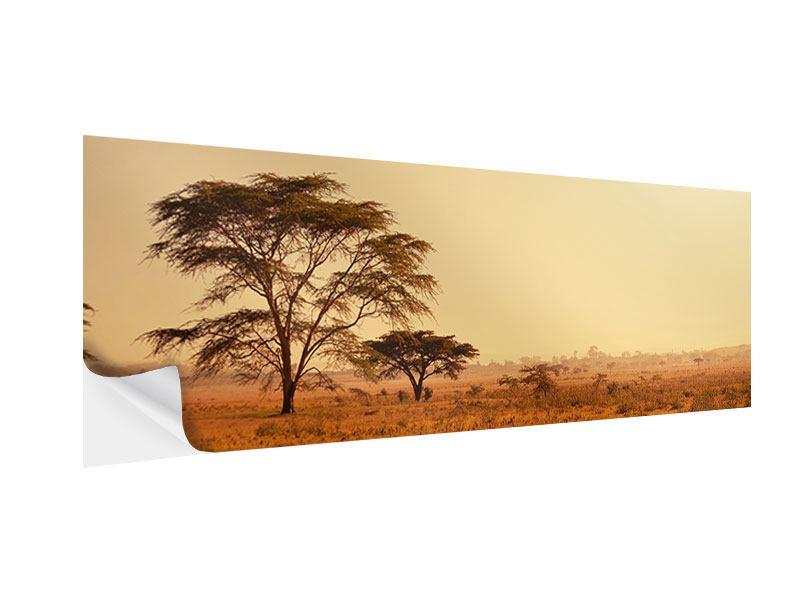 Klebeposter Panorama Weideland in Kenia