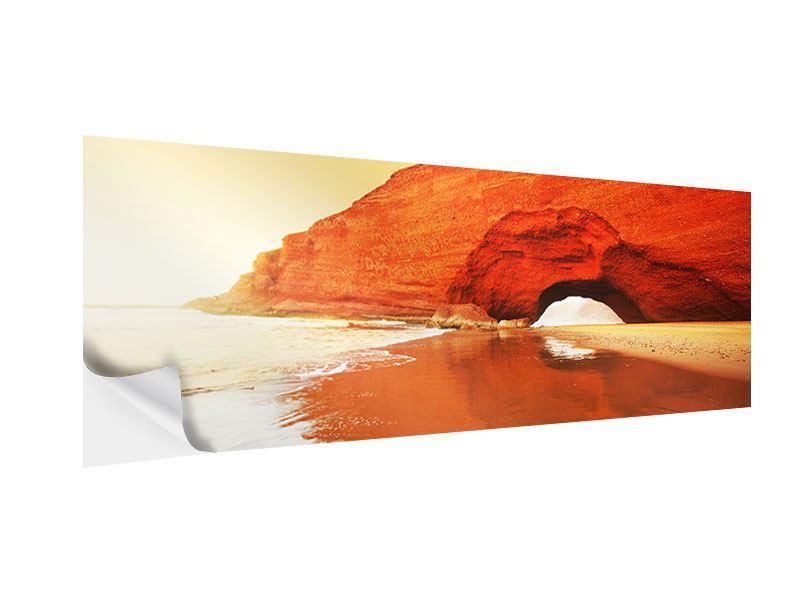 Klebeposter Panorama Wasserspiegelung
