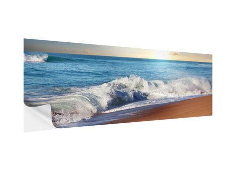 Klebeposter Panorama Die Wellen des Meeres