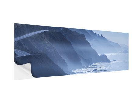 Klebeposter Panorama Bewegung im Wasser