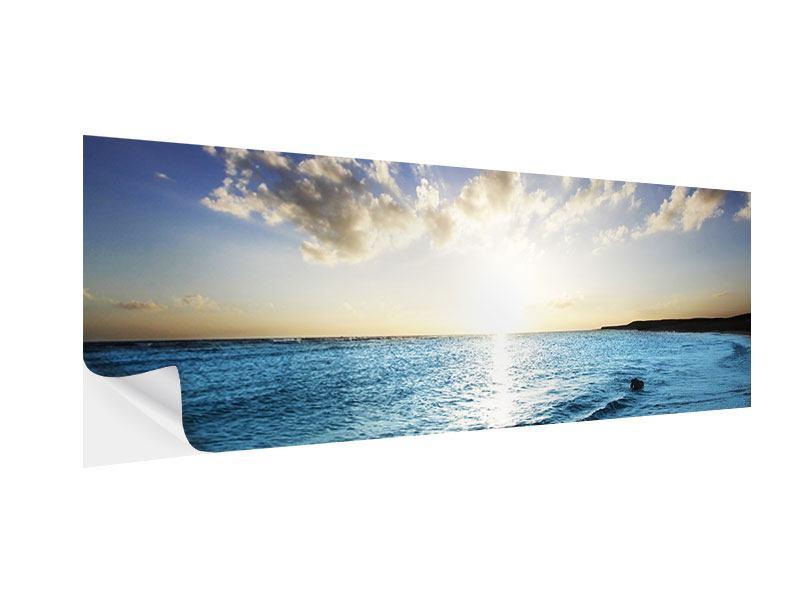 Klebeposter Panorama Das Meer im Sonnenaufgang