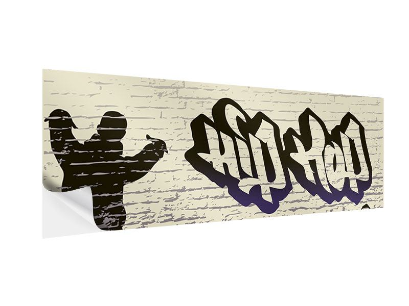 Klebeposter Panorama Graffiti Hip Hop