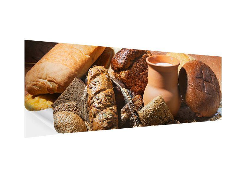 Klebeposter Panorama Frühstücksbrote