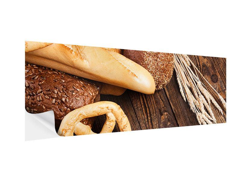 Klebeposter Panorama Brot und Bretzel