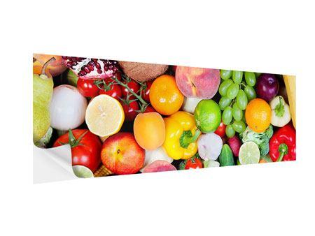 Klebeposter Panorama Frisches Obst