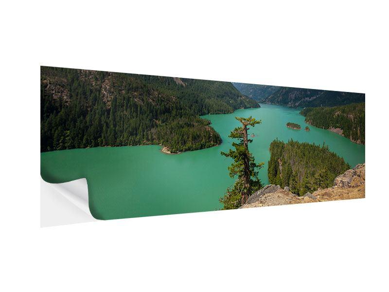 Klebeposter Panorama Diablo Bergsee