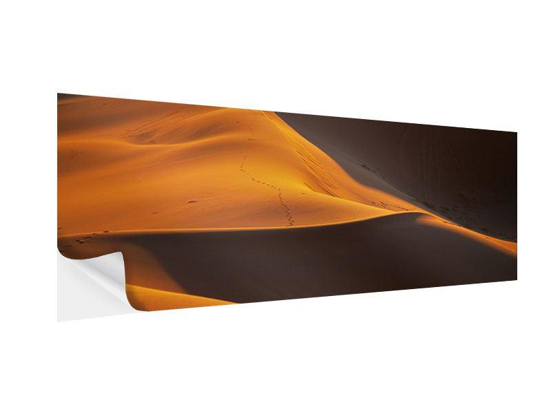 Klebeposter Panorama Wüstensand