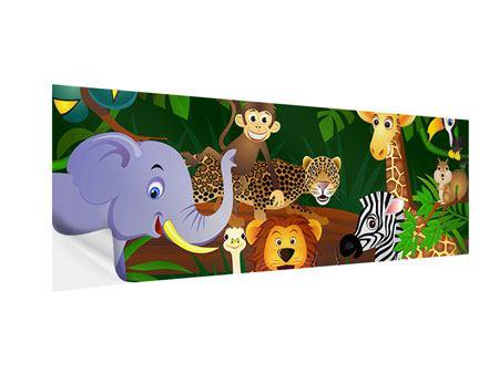 Klebeposter Panorama Dschungelkönig