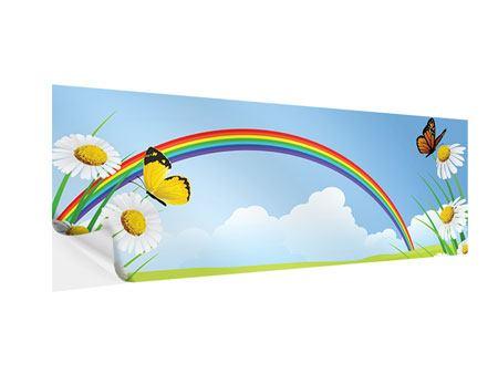 Klebeposter Panorama Der bunte Regenbogen