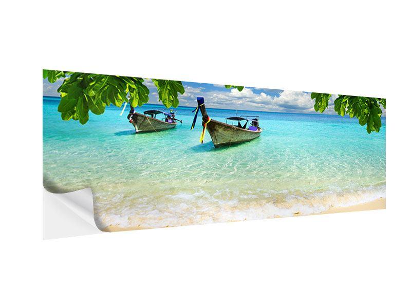 Klebeposter Panorama Ein Blick auf das Meer