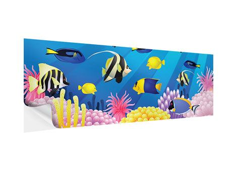Klebeposter Panorama Kinder Unterwasserwelt