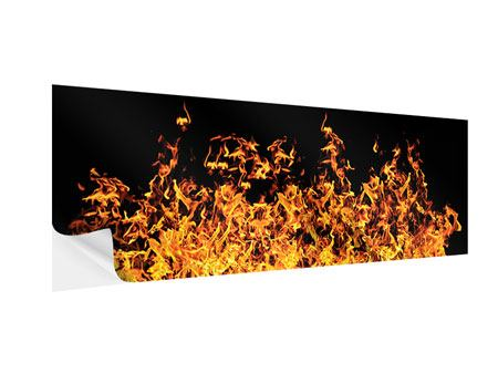 Klebeposter Panorama Moderne Feuerwand