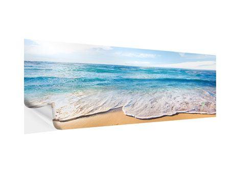Klebeposter Panorama Spuren im Sand