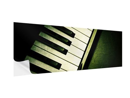 Klebeposter Panorama Close Up Klavier