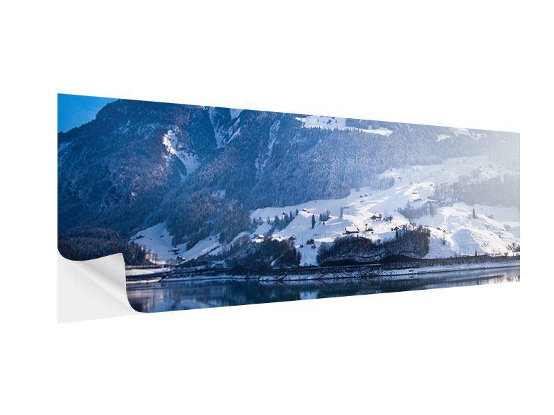 Klebeposter Panorama Winterwunderland