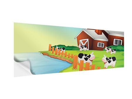 Klebeposter Panorama Eine Kuh macht Muh