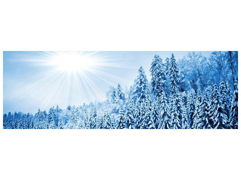 Klebeposter Panorama Wintermärchen