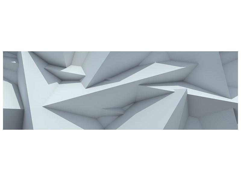 Klebeposter Panorama 3D-Kristallo