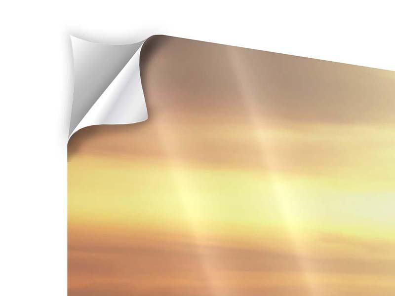 Klebeposter Panorama Sonnenuntergang an der See