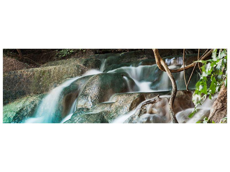 Klebeposter Panorama Am Fluss des Lebens