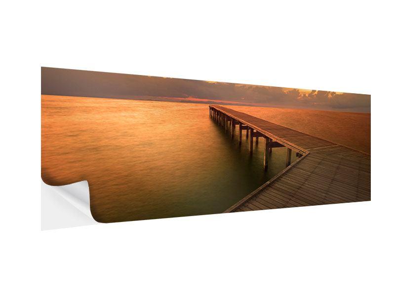 Klebeposter Panorama Der Steg am Meer