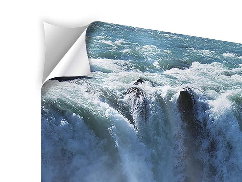 Klebeposter Panorama Mächtiger Wasserfall