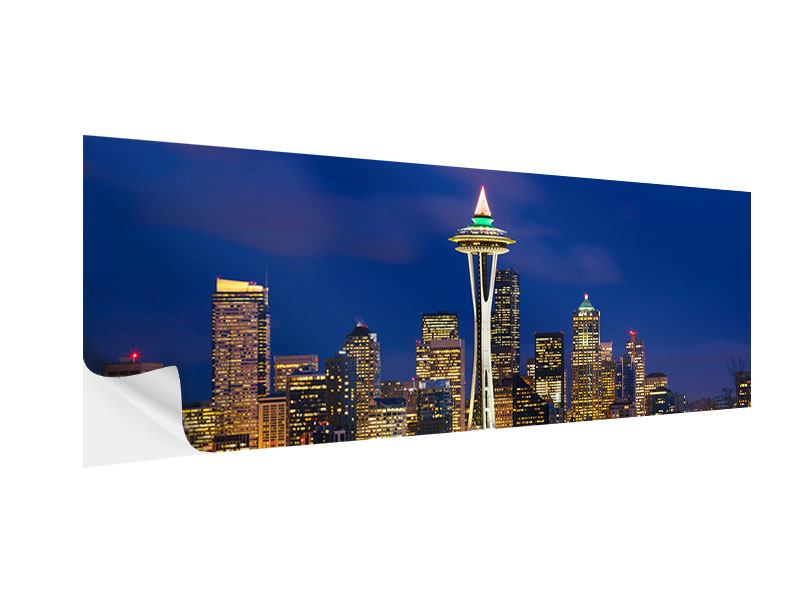 Klebeposter Panorama Skyline Seattle