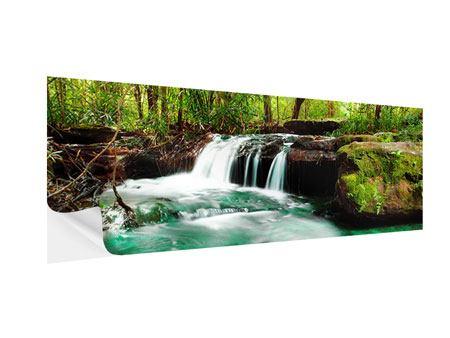 Klebeposter Panorama Der Fluss am Wasserfall