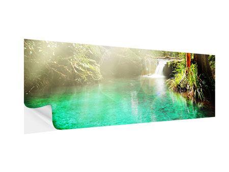 Klebeposter Panorama Die grüne Lagune