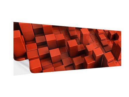 Klebeposter Panorama 3D-Rechtkant