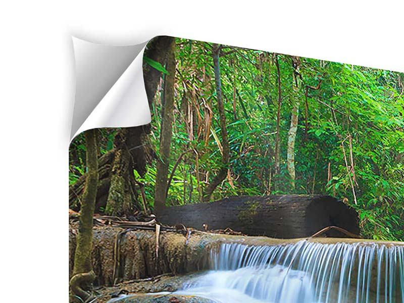 Klebeposter Panorama Kaskaden Huay Mae Khamin