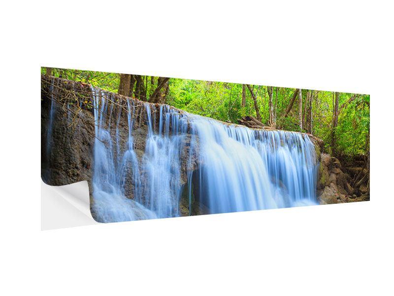 Klebeposter Panorama Wasserfall Si Nakharin