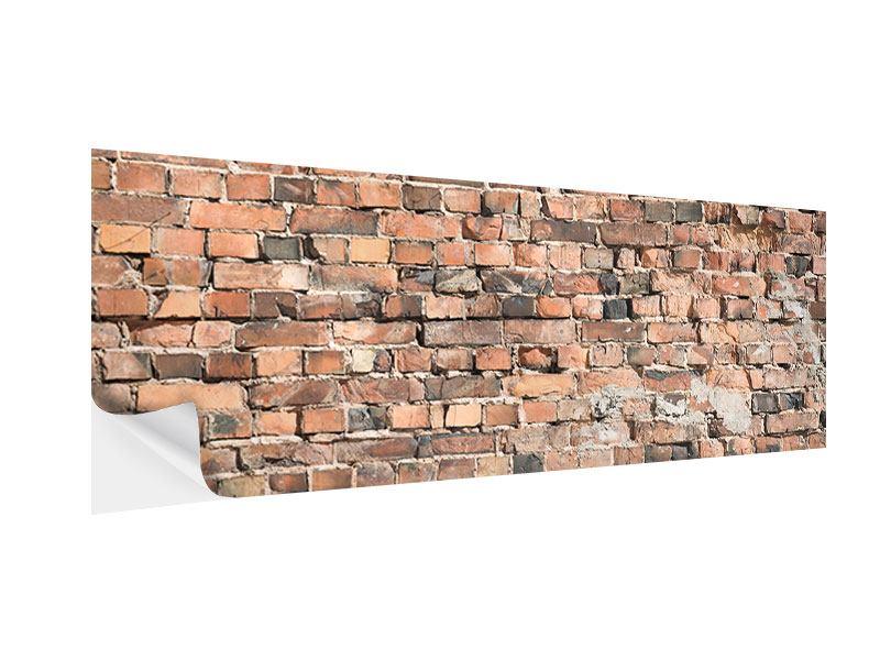 Klebeposter Panorama Alte Backsteinmauer