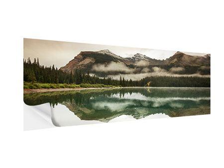 Klebeposter Panorama Spiegelung im Glacier Nationalpark