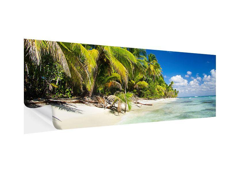 Klebeposter Panorama Die einsame Insel