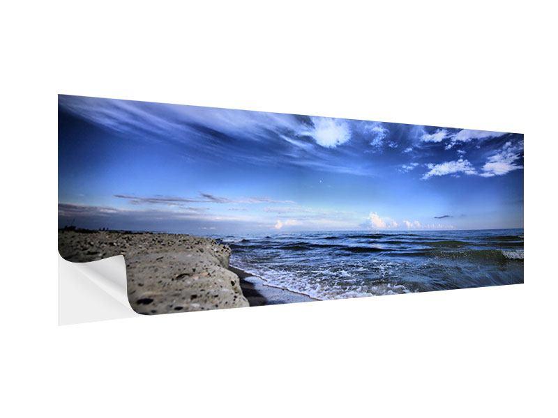 Klebeposter Panorama Strandwellen